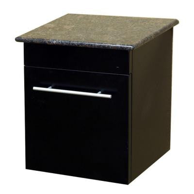 Norwalk 15 in. W Solid Wood Side Cabinet in Black