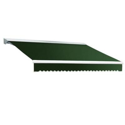 20 ft. DESTIN EX Model Manual Retractable with Hood Awning (120 in. Projection) in Forest Green