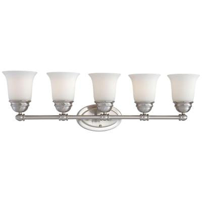 Bella 5-Light Brushed Nickel Bath Light