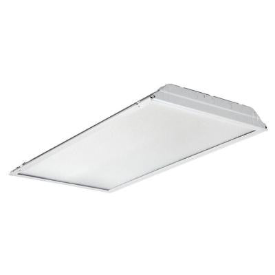 2 ft. x 4 ft. White LED Prismatic Lens Troffer