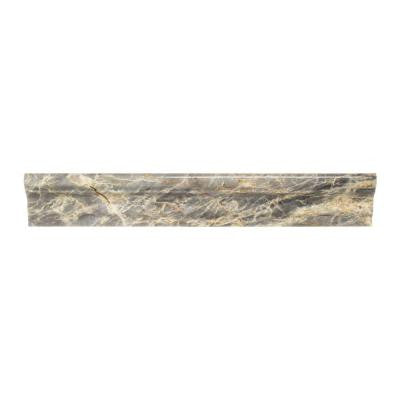 Academy Grey Marble 1-7/8 in. x 12 in. Crown Wall Tile