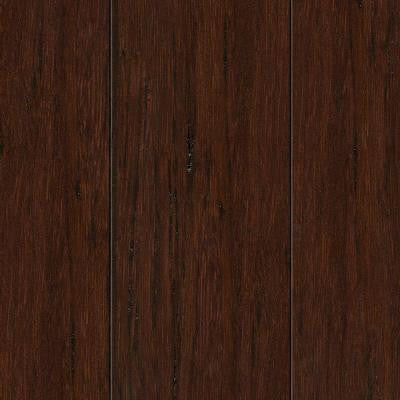 Hand Scraped Strand Woven Hazelnut 3/8 in. Thick x 2-3/8 in. Wide x 36 in. Length Solid Bamboo Flooring (28.5 sqft/case)