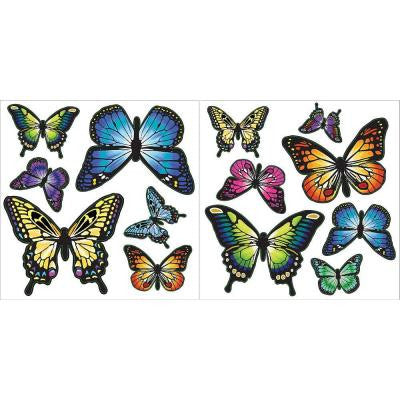 13 in. x 13 in. Butterflies 27-Piece Wall Decal Kit