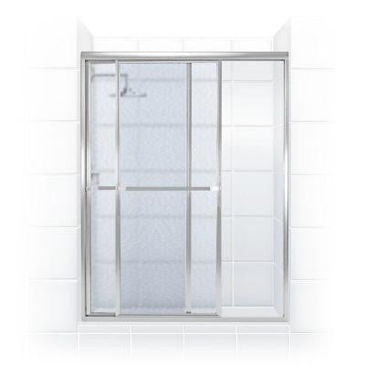 Paragon Series 44 in. x 70 in. Framed Sliding Shower Door with Towel Bar in Chrome and Obscure Glass