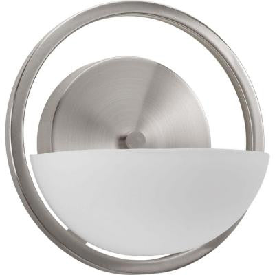 Engage Collection 1-Light Brushed Nickel Bath Light