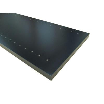 3/4 in. x 12 in. x 97 in. Black Thermally-Fused Melamine Adjustable Side Panel