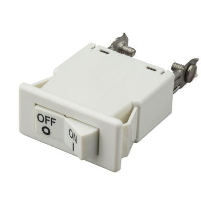 White Track Lighting Current Limiting Switch