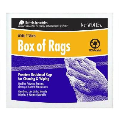 4 lb. Recycled White Cloth Rags Box