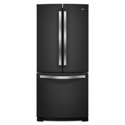 30 in. W 19.7 cu. ft. French Door Refrigerator in Black Ice
