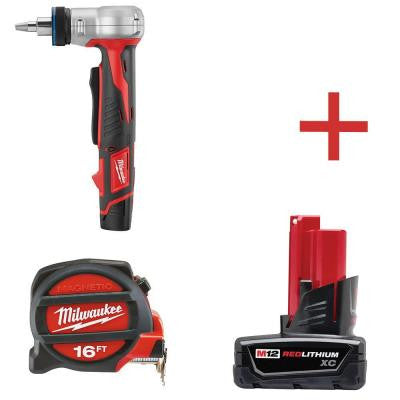 M12 12-Volt Lithium-Ion Cordless ProPEX Expansion Combo Tool Kit with Free M12 XC 3.0Ah Battery and 16 ft. Tape Measure