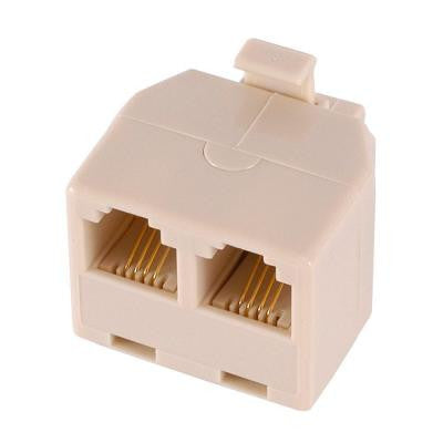 4-Conductor Duplex In-Wall Adapter - Almond
