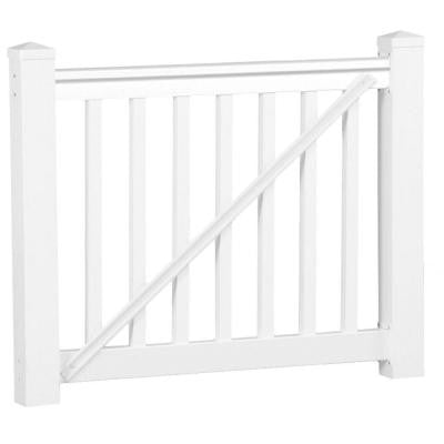 Vanderbilt 42 in. x 60 in. Vinyl White Gate Rail Kit
