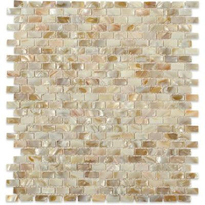Baroque Pearls Mini Brick 12 in. x 12 in. Mosaic Floor and Wall Tile