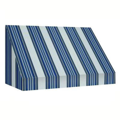 6 ft. New Yorker Window Awning (44 in. H x 24 in. D) in Navy/White Stripe