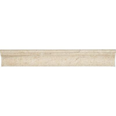 Coastal Sand 2 in. x 12 in. Honed Limestone Cornice Molding Wall Tile (10 lin. ft. / case)