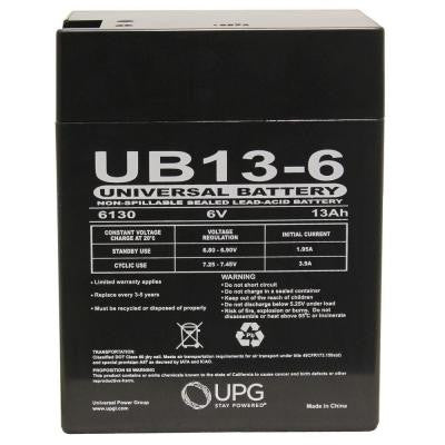 SLA 6-Volt 0.187 in. Terminal Battery