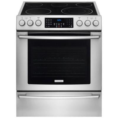 IQ Touch 4.6 cu. ft. Electric Range with Front Controls, Self-Cleaning Double Convection Oven in Stainless Steel