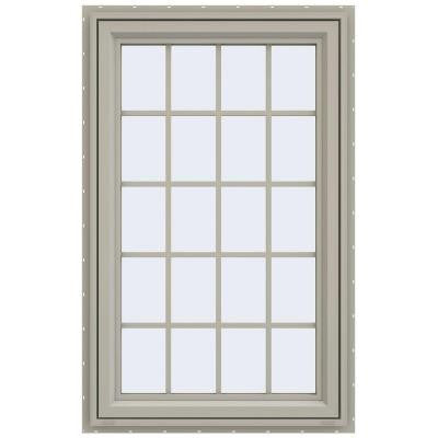 29.5 in. x 47.5 in. V-4500 Series Right-Hand Casement Vinyl Window with Grids - Tan