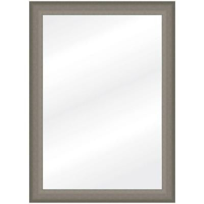 30 in. x 42 in. Brushed Pewter Framed Wall Mirror