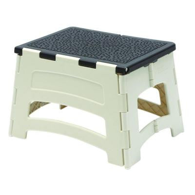 1-Step Plastic Stool with 300 lb. Load Capacity