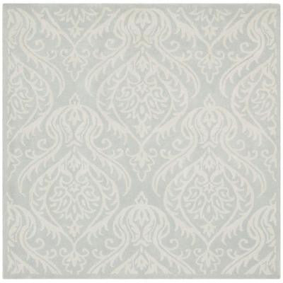 Bella Silver/Ivory 6 ft. x 6 ft. Square Area Rug