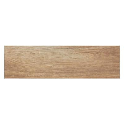 Oak Brown Porcelain Floor and Wall Tile - 7 in. x 24 in. Tile Sample