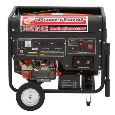 210 Amp Welder and 4,000-Watt Gasoline Powered Generator with Electric Start