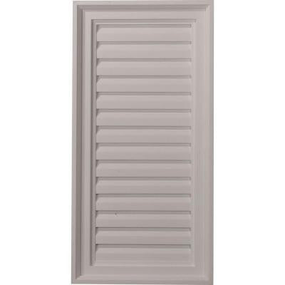 2 in. x 15 in. x 30 in. Decorative Vertical Gable Louver Vent