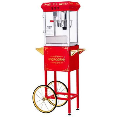 All-Star GNP-800 8 oz. Red Popcorn Machine & Cart