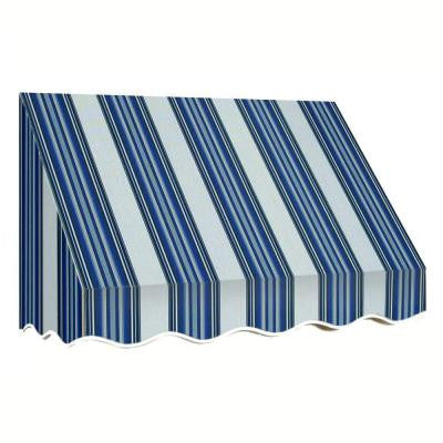 45 ft. San Francisco Window/Entry Awning (56 in. H x 48 in. D) in Navy/White Stripe