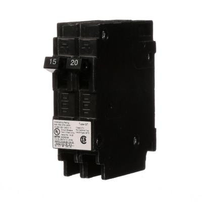15/20 Amp Tandem Single-Pole Type QT Circuit Breaker