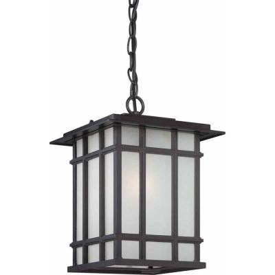 1-Light Antique Bronze Outdoor Pendant