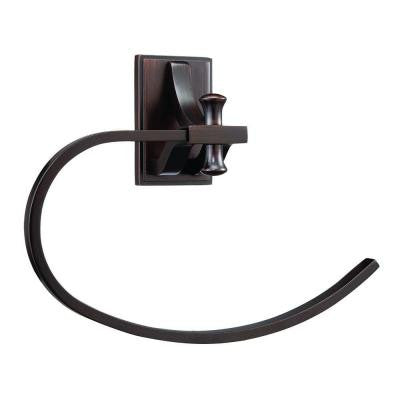Ironwood Towel Ring in Brushed Bronze