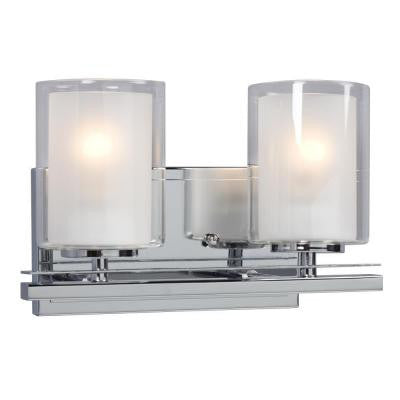 Donovan 2-Light Polished Chrome Bath Vanity Light