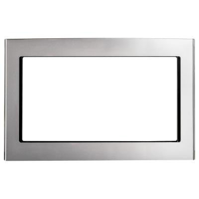 Deluxe Built-In 27 in. Microwave Trim Kit in Stainless Steel