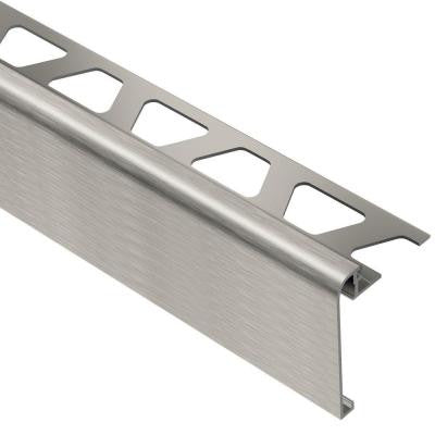 Rondec-Step Brushed Nickel Anodized Aluminum 1/2 in. x 8 ft. 2-1/2 in. Metal Tile Edging Trim