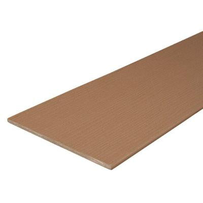 Paramount 1/2 in. x 11-3/4 in. x 12 ft. Brown Capped Cellular Fascia PVC Decking Board (10-Pack)