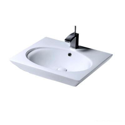 Aristocrat 18-1/2 in. Above Counter Sink Basin in White