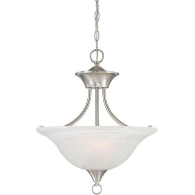 Lenor 2-Light Brushed Nickel Incandescent Ceiling Chandelier