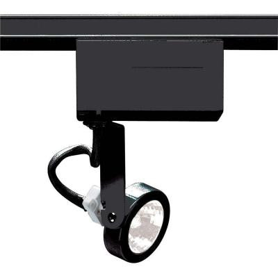 1-Light MR16 12-Volt Black Gimbal Ring Track Lighting Head