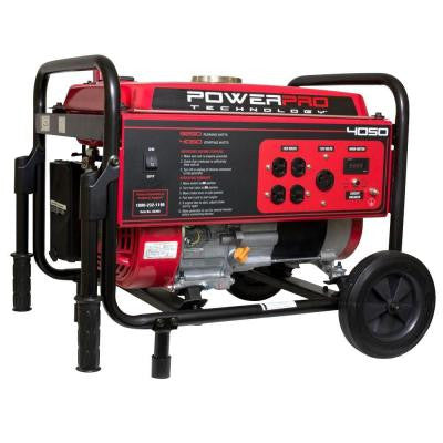 3,250-Watt Gasoline Powered Portable Generator with Wheel Kit