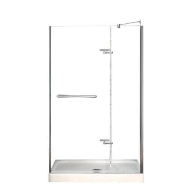 Reveal 32 in. x 48 in. x 74-1/2 in. Shower Stall in White