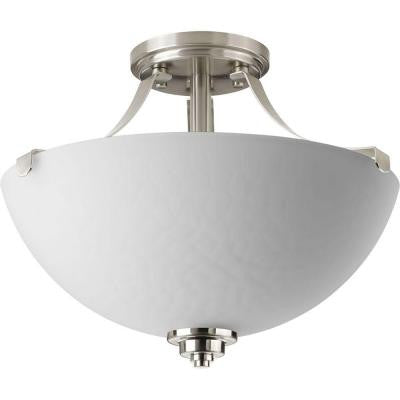 Legend Collection 2-Light Brushed Nickel Semi-Flush Mount Light