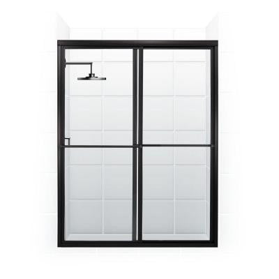 Newport Series 60 in. x 70 in. Framed Sliding Shower Door with Towel Bar in Oil Rubbed Bronze and Clear Glass