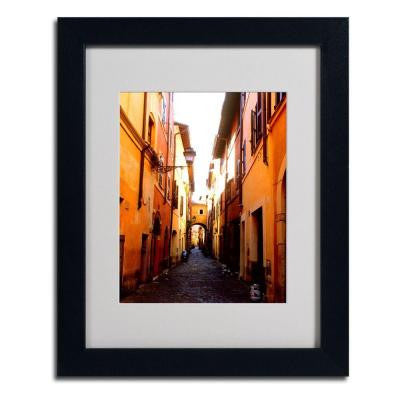 11 in. x 14 in. Campo De Fiori Alley Matted Framed Art