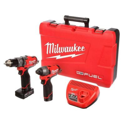 M12 FUEL 12-Volt Lithium-Ion 1/2 in. Hammer Drill/Driver and Impact Combo Kit
