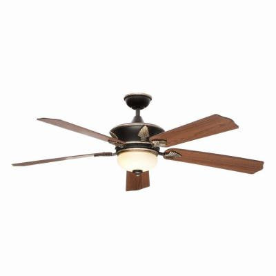 Wineberg 60 in. Old World Gold Ceiling Fan
