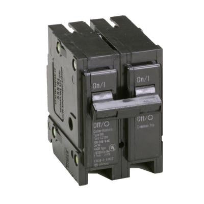 Type BR, BQ Quadplex Circuit Breaker, one 40Amp 2 pole and two 20Amp 1 poles