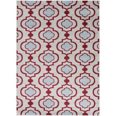 Habikino Cherry 9 ft. 3 in. x 12 ft. 6 in. Indoor Area Rug