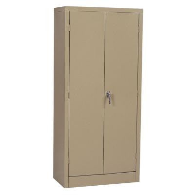 30 in. W x 66 in. H x 15 in. D Freestanding Steel 4-Shelf Double Door Cabinet in Tan